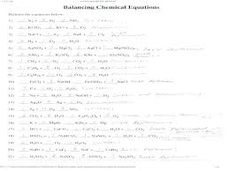 balancing chemical equations chapter 7 worksheet 1 answers balance the following