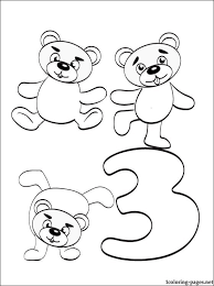 Small Picture Number 3 Coloring Page Coloring Home