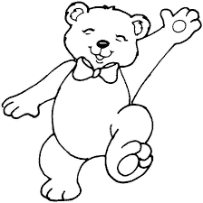Teddy Bear Flag Hand Happy Coloring