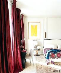 Red Curtains For Living Room Lwren Scotts Paris Bedroom With Patterned  Bedspread And Red Curtains Red