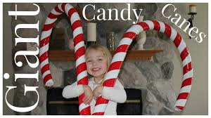 Big Candy Cane Decorations How to Make Giant Candy Cane Decorations YouTube 1