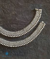 Anklet Design With Price Buy Womens Silver Anklets Payal Toe Rings Online Bridal