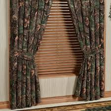 Wide Window Treatments mixed pine rustic camo camouflage window treatment 6670 by xevi.us