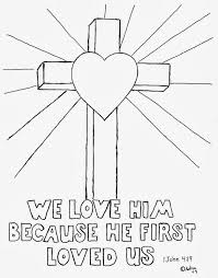 Cross And Heart Coloring Page Printable Coloring Page For Kids