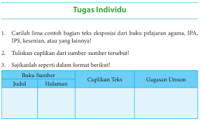 Jawaban tugas bahasa indonesia kelas 12 kurikulum 2013 halaman 80 sd 100. Jawaban Buku Bahasa Indonesia Kelas 8 Tugas Individu Hal 67 Carilah Lima Contoh Pentium Sintesi