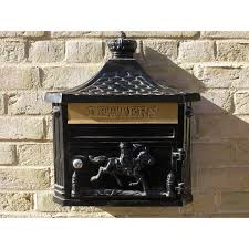 wall mounted mailbox aluminium black letterbox