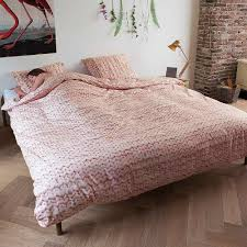 snurk twirre flannel double bedding set dusty pink 200cmx200cm at dotmaison