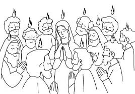 Small Picture Pentecost Praise Jesus and Holy Spirit Coloring Page Color Luna