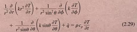 beginning with the heat diffusion equation in sphe