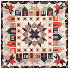 1029 best HOUSE QUILTS 2 images on Pinterest | Quilt block ... & Quilt made by Karen O'Connor aka @LadyKQuilts using Thimble Blossoms'
