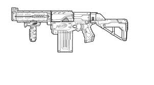 Nerf Gun Coloring Pages Ronniebrownlifesystems