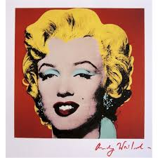 marilyn monroe red by andy warhol