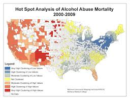 Gis Alcohol Analysis Mortality Spot Of Abuse Healthcare 2000-2009 – Hot Health amp; Public Use In