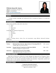 Sample Resume For Ojt Students Resume Pro Ojt Resume Shalomhouseus