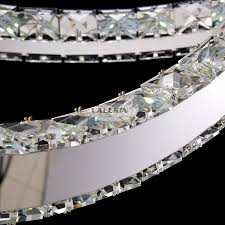 s shape modern led chanderlier lights diamond ring ceiling lamps led crystal chandelier light l57cm w30cm vallkin