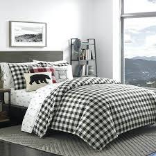plaid flannel comforter black white mountain plaid comforter set plaid flannel duvet cover king