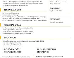 Two Page Resume Format Custom Single Page Resume Format Download 48 Page Resume Format For