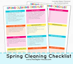 Spring Cleaning Checklist And Cleaning Essentials The