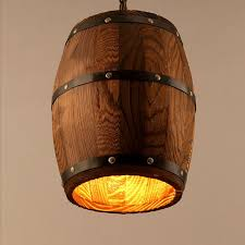 e27 american country loft wood wine barrel hanging fixture ceiling pendant lamp light for bar cafe living dining room restaurant in pendant lights from