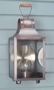 copper lighting fixtures. hammerworks handcrafted colonial lighting fixtures barn light w101 made with solid copper in antique finish