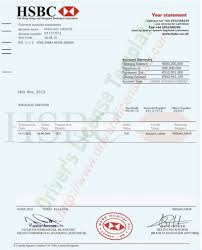 account statement templates hsbc bank account statement psd fake documents bank statement