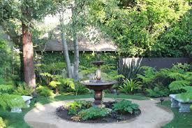 fountain garden. Contemporary English Garden Mediterranean-landscape Fountain