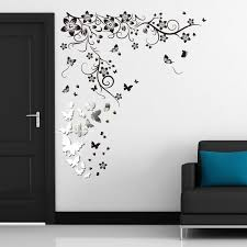 c2ww002002 wsm2057 14 mirror butterflies wall art ws9022 butterfly vine  on removable wall art stickers uk with wall stickers uk wall art stickers kitchen wall stickers