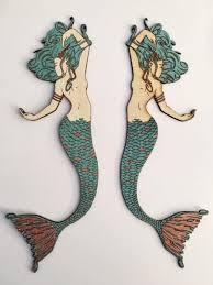 large mermaid wall decor furniture wooden mermaid wall hanging best of awesome wooden