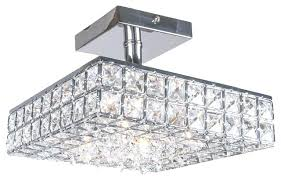 flush crystal chandelier ceiling flush mount rectangular crystal chandelier