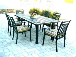 patio table umbrella hole ring set chairs rectangular tables and with small furniture inspiring