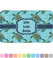 Sea Turtle Bathroom Accessories Sea Turtles Bath Mat Personalized Rnk Shops