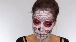 work on lipouth easy day of the dead makeup tutorial perfect for