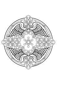 Mandela Keltisch Vleugels Keltisch Mandala Kleurplaten