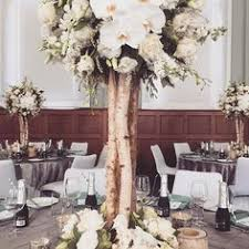 Silver birch centerpieces | Centrepieces | White trees | Weddings at  Mansion Hotel and Spa at