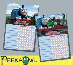 Thomas And Friends Reward Chart Behavior Chart Kids Reward Chart Kids Charts For Kids