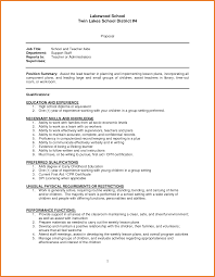 Teacher Assistant Resume Sample Skills Example Aide Position