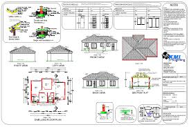 flat roof house plan