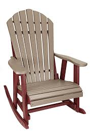 Outer Banks Deluxe Poly Lumber Adirondack Rocking Chair Bar