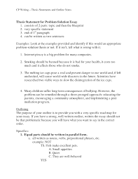 Writing A Thesis Statement Term Paper Thesis Statement Examples
