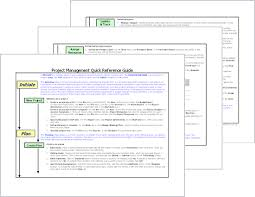 project management quick reference guide project management quick reference guide office templates