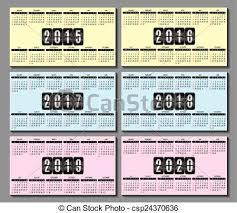 Calendar Grid 2015 2016 2020 F