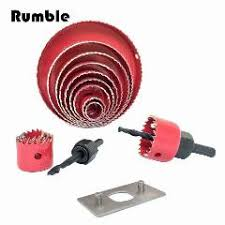 hole saw bit wood. 1set wood hole saw drill bits cutter openning woodworking hand diy power tool accessories size 19-127mm cutting set kit bit