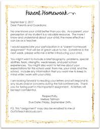 Teachers You Must Send This Letter Home On The First Day Of