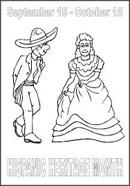 Hispanic Heritage Coloring Pages Coloring Hispanic Heritage Month Coloring Pages