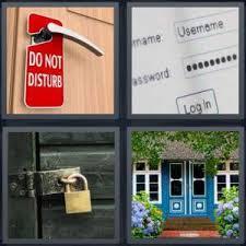 4 Pics 1 Word Answer for Hotel Password Lock Door Heavycom