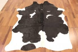 cowhide black and white