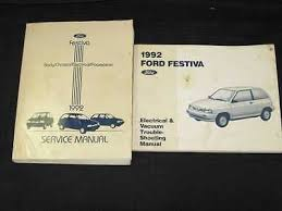 ford festiva zeppy io 1992 ford festiva shop manual 2pcs