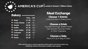 stevens dining america s cup menu