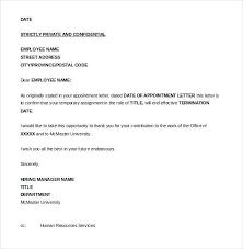 Creative Termination Letter Template
