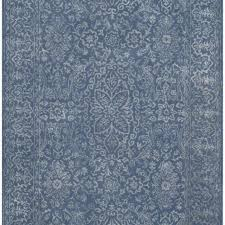 wilkins hand tufted gray blue area rug courtesy of wayfair